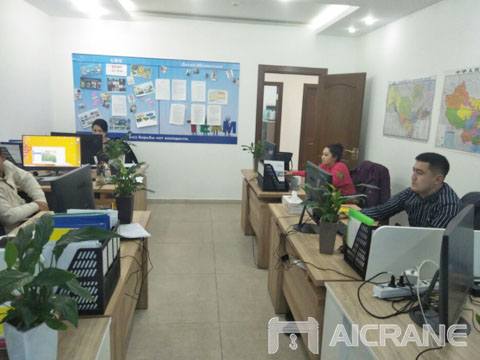 Отделение AIMIX в Узбекистане - цена козловой кран купить