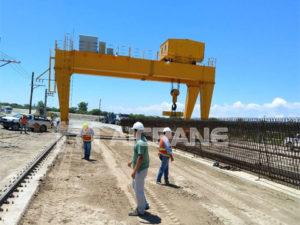 Продать двухбалочный козловой кран 70 тонн в Аргентину